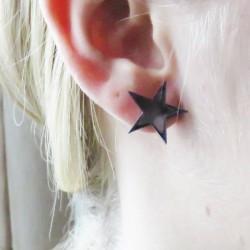 Stjerner Plexiglas Øreringe...