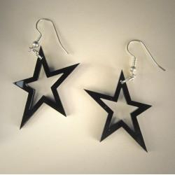 Funky Sorte Plexiglas Stjerner