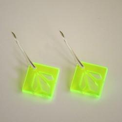 Vilde Neon Plexi Øreringe